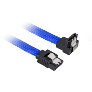 0.60m Sharkoon SATA 6Gb/s Anschlusskabel gewinkelt SATA Stecker auf SATA Stecker Blau