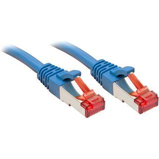 (€2,63*/1m) 3.00m Lindy Cat. 6 Patchkabel S/FTP RJ45 Stecker auf RJ45 Stecker Blau Klinkenschutz / vergoldet