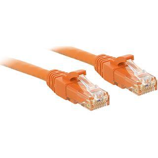 (€2,45*/1m) 2.00m Lindy Cat. 6 Patchkabel U/UTP RJ45 Stecker auf RJ45 Stecker Orange Klinkenschutz / Knickschutzelement