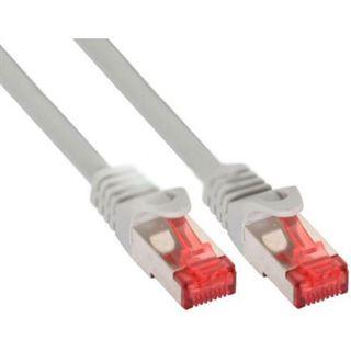 (€3,90*/1m) 1.00m InLine Cat. 6 Patchkabel S/FTP PiMF RJ45 Stecker auf RJ45 Stecker Grau AWG27 / Geflechtabschirmung / Kupfer / Rastnasenschutz