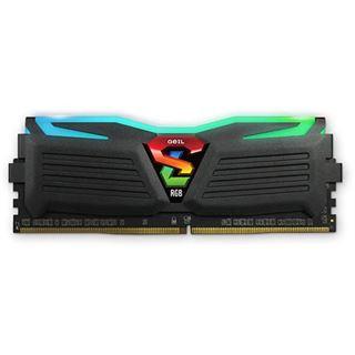 16GB GeIL EVO Super Luce Sync RGB LED schwarz DDR4-2400 DIMM CL16 Dual Kit