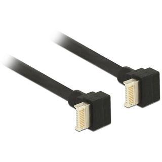(€64,22*/1m) 0.45m Delock USB3.1 Gen2 Anschlusskabel Super-Speed USB Key B Stecker gewinkelt auf USB Key B Stecker gewinkelt Schwarz
