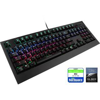 MSI GK-701 RGB GAMING CHERRY MX RGB Speed-Silver USB Deutsch schwarz (kabelgebunden)