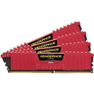 32GB Corsair Vengeance LPX rot DDR4-4000 DIMM CL19 Quad Kit