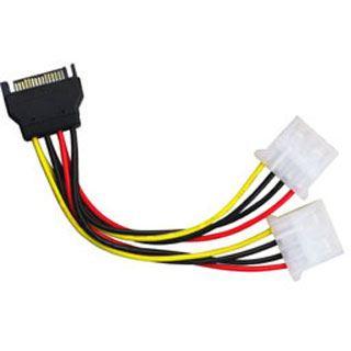(€52,67*/1m) 0.15m Lindy SATA Stromadapterkabel SATA Strom Stecker auf 2xMolex Buchse Schwarz/Rot/Gelb/Weiß