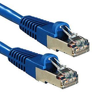 (€1,36*/1m) 30.00m Lindy Cat. 6a Patchkabel S/FTP RJ45 Stecker auf RJ45 Stecker Blau Klinkenschutz / vergoldet