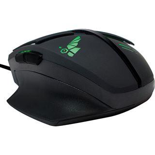 LogiLink Gaming USB schwarz/gruen (kabelgebunden)