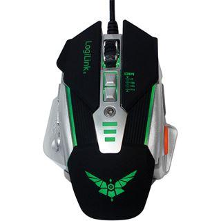 Logilink Maus USB Gaming 8 Tasten 3200 dpi m. Gewichten &LED