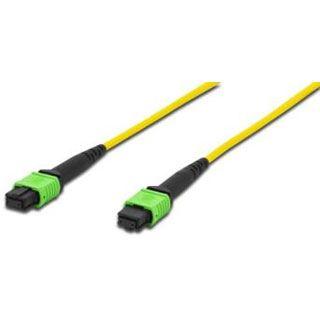 (€22,58*/1m) 5.00m ASSMANN Electronic GmbH LWL Anschlusskabel 9/125 µm OS2 MPO Stecker auf MPO Stecker Gelb LSOH / Polybag