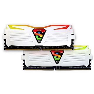 16GB GeIL Super Luce weiss RGB LED DDR4-2400 DIMM CL17 Dual Kit