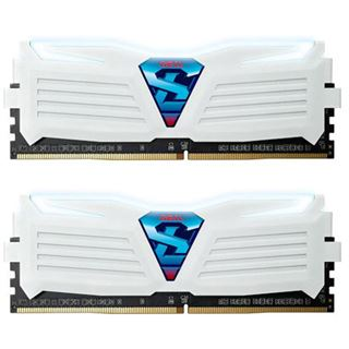 16GB GeIL Super Luce weiss LED weiss DDR4-2400 DIMM CL17 Dual Kit