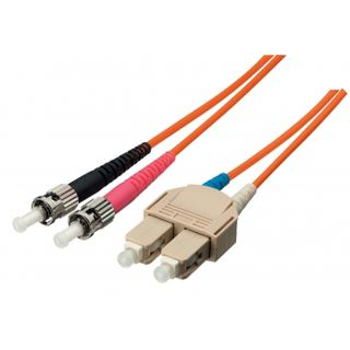 (€1,78*/1m) 5.00m Equip LWL Duplex Patchkabel 9/125 µm OS2 ST Stecker auf SC Stecker Gelb LSZH / Singlemode