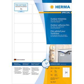 HERMA Outdoor Folien-Etiketten SPECIAL, 63,5 x 33,9 mm, weiß