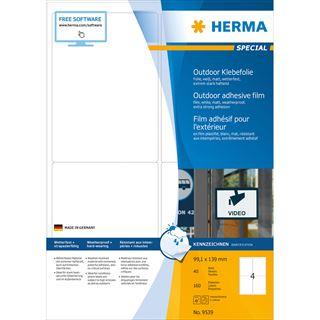 HERMA Outdoor Folien-Etiketten SPECIAL, 99,1 x 139 mm, weiß