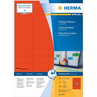 HERMA Universal-Etiketten SPECIAL, 45,7 x 21,2 mm, rot