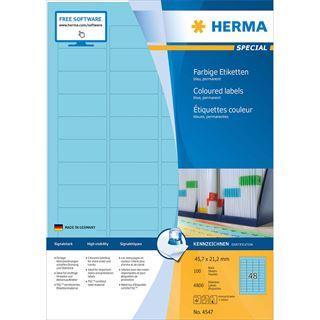 HERMA Universal-Etiketten SPECIAL, 45,7 x 21,2 mm, blau