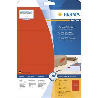 HERMA Universal-Etiketten SPECIAL, 105 x 37 mm, rot