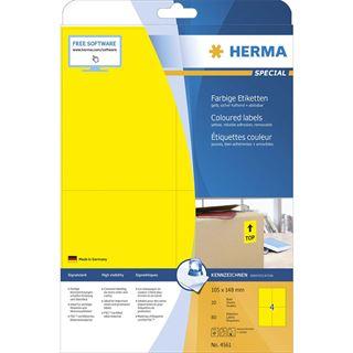 HERMA Universal-Etiketten SPECIAL, 105 x 148 mm, gelb