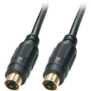 (€1,09*/1m) 10.00m Lindy S-VHS Anschlusskabel Mini-DIN 4pol Stecker auf Mini-DIN 4pol Stecker Schwarz geschirmt