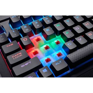 Corsair K68 Gaming Tastatur, MX-Red, RGB LED - schwarz