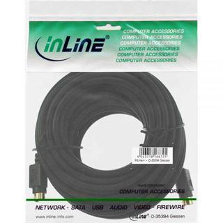 (€0,79*/1m) 10.00m InLine S-VHS Anschlusskabel 4pol Stecker auf 4pol Stecker Schwarz vergoldete Stecker