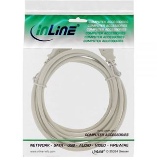 (€3,90*/1m) 1.00m InLine USB2.0 Anschlusskabel USB A Stecker auf USB A Stecker Grau