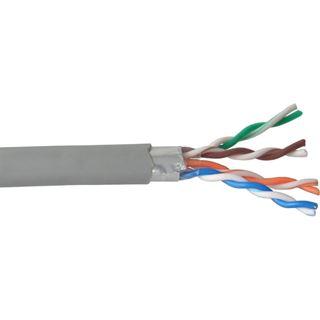 (€0,18*/1m) 100.00m InLine Cat. 5e Verlegekabel F/UTP Grau CCA / PVC