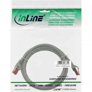 (€1,63*/1m) 3.00m InLine Cat. 6 Patchkabel S/FTP PiMF RJ45 Stecker auf RJ45 Stecker Grau Knickschutzelement