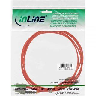 (€7,90*/1m) 1.00m InLine LWL Duplex Patchkabel 50/125 µm OM2 SC Stecker auf SC Stecker Orange