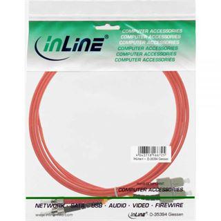 (€4,45*/1m) 2.00m InLine LWL Duplex Patchkabel 50/125 µm OM2 SC Stecker auf ST Stecker Orange