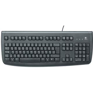 Logitech 250 Deluxe Tastatur Schwarz Deutsch USB OEM
