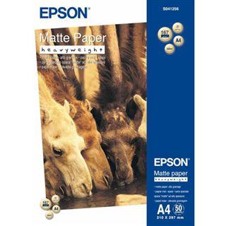 Epson S041256 Matte Papier - Heavyweight A4 Fotopapier 29.7x21 cm (50 Blatt)