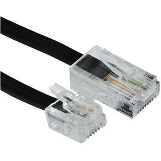 (€2,30*/1m) 3.00m Hama Adapterkabel 8p4c RJ45 Stecker auf RJ11 Stecker Schwarz