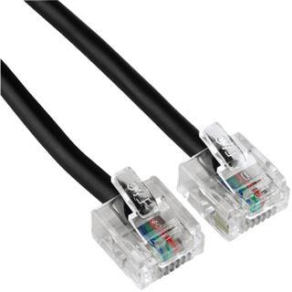 1.50m Hama ISDN Anschlusskabel 8p4c RJ45 Stecker auf RJ45 Stecker Schwarz vergoldet