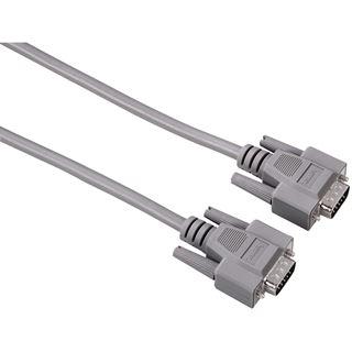 (€4,30*/1m) 3.00m Hama VGA Anschlusskabel 15pol Stecker auf 15pol Stecker Grau geschirmt