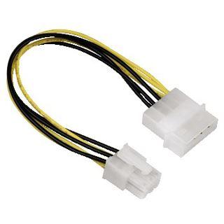 (€55,63*/1m) 0.16m Hama PCI Express Stromadapterkabel Molex-Stecker auf 6pol PCIe Stecker Schwarz/Gelb