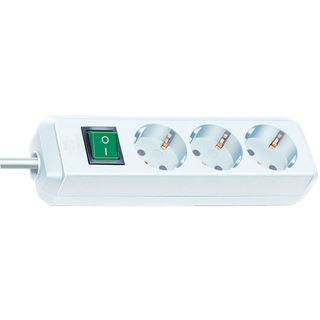 (€1,98*/1m) 5.00m Brennenstuhl Eco-Line Steckdosenleiste mit Schalter Weiß 3 (1152920)