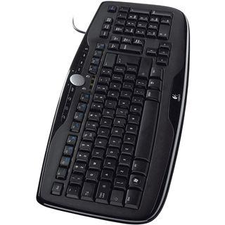 Logitech 600 Media Tastatur Schwarz Deutsch USB