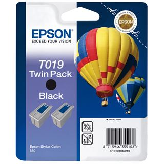 Epson C13T019402 Schwarz 2x 24ml Kit