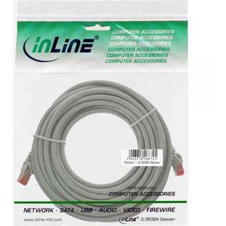 (€0,56*/1m) 50.00m InLine Cat. 6 Patchkabel S/FTP PiMF RJ45 Stecker auf RJ45 Stecker Grau PVC