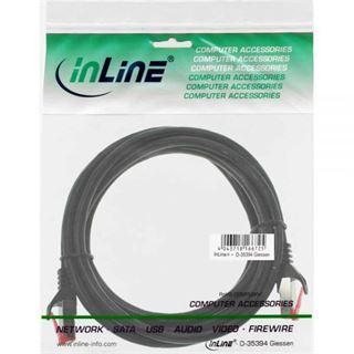(€3,90*/1m) 1.00m InLine Cat. 6 Patchkabel U/UTP RJ45 Stecker auf RJ45 Stecker Schwarz Knickschutzelement