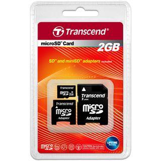 2 GB Transcend Standard microSD Class 2 Retail inkl. Adapter