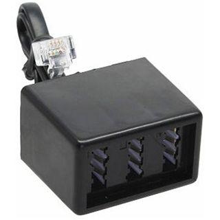 (€49,00*/1m) 0.10m InLine Telefon Adapterkabel RJ11 Stecker auf NFN Buchse Schwarz