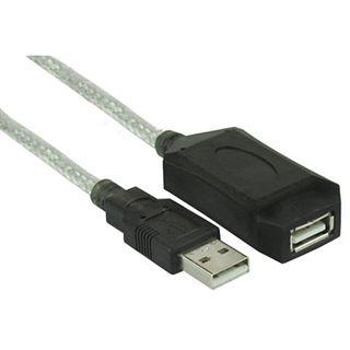 (€7,80*/1m) 0.50m InLine USB2.0 Verlängerungskabel USB A Stecker auf USB A Buchse Schwarz vergoldet