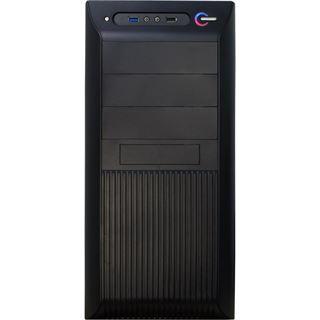 Inter-Tech CK-30 Black Velvet Midi Tower ohne Netzteil schwarz