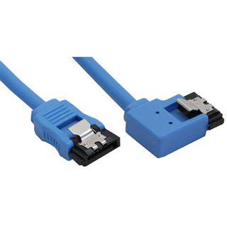 (€32,67*/1m) 0.15m InLine SATA 6Gb/s Anschlusskabel gewinkelt links SATA Stecker auf SATA Stecker Blau