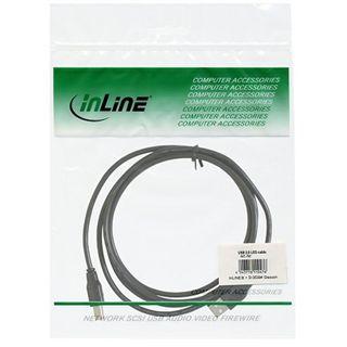 (€2,17*/1m) 1.80m InLine USB2.0 Anschlusskabel USB A Stecker auf USB B Buchse Grau bulk