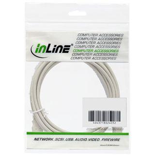 (€1,63*/1m) 3.00m InLine USB2.0 Anschlusskabel USB A Stecker auf USB B Buchse Grau bulk