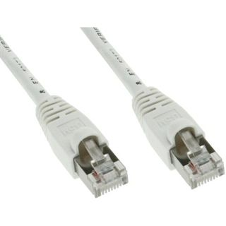 (€0,69*/1m) 10.00m InLine Cat. 5e Patchkabel S/FTP RJ45 Stecker auf RJ45 Stecker Weiß Rastnasenschutz