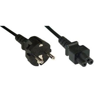 (€2,30*/1m) 3.00m InLine Stromkabel Schutzkontakt Stecker auf 3pol Buchse Schwarz